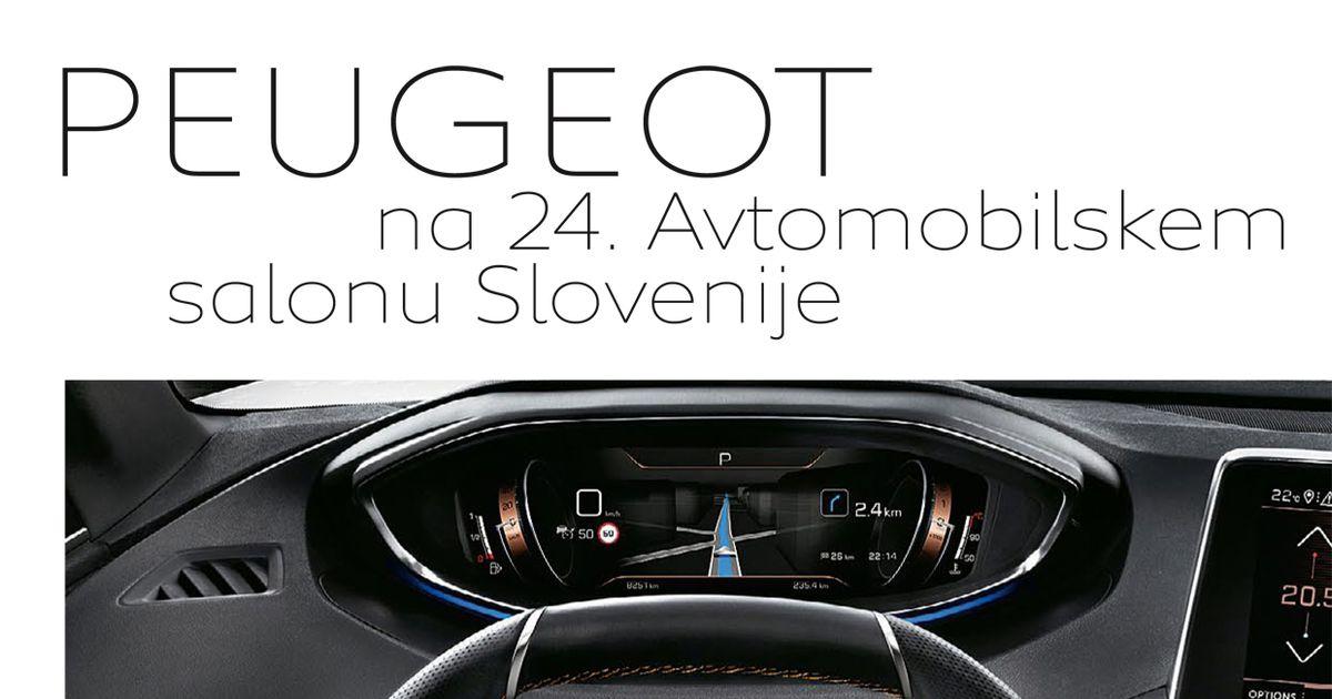 Revija Peugeot na 24. avtombilskem salonu Slovenije